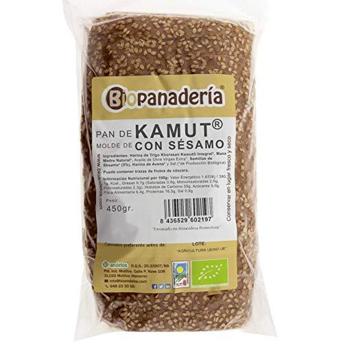 Biopanadería Pan de Molde de Trigo Khorasan Kamut® Integral con Sésamo 450g Ecológico Gourmet