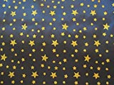 Satin Stoff Glitzer Sternenhimmel blau dunkelblau Sterne