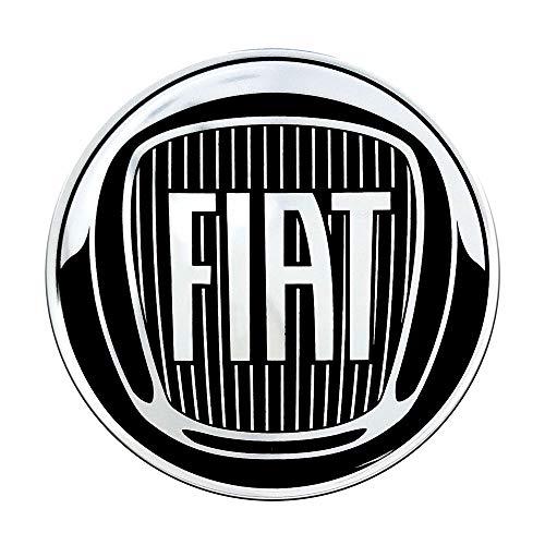 Fiat 4R Quattroerre.it 21230 Pegatina 3D Oficial Logo Negro 58 mm