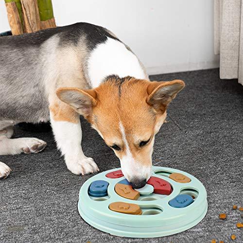 FREESOO Juguete Rompecabezas Interactivo para Perros Puzzle Toy Juegos Dispensador de Golosinas Alimentador Lento para Perros Pequeños Cachorros Entrenamiento Juguete de Puzle para Perros