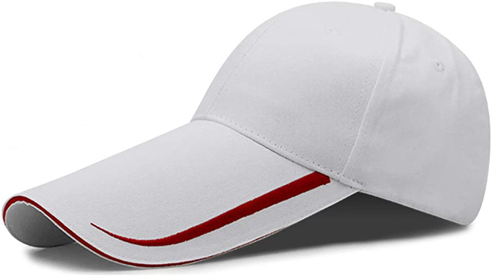 YEKEYI Extra Long Bill 100% Washed Cotton Baseball Cap Lengthened Brim Sun Protection Hat Long Large Bill Cap