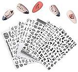ASFINS Nagelsticker Selbstklebend, 7 Blatt Nagel Aufkleber Sticker Nagelaufkleber Fingernagelsticker für DIY Nail Art Dekoration/Phone Case/Karten Deko