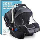 Stroller Mosquito Net for Car Seats,Infant stroller and Bassinets, Infant Carrier,Breathable with Elastic Netting For Easy Fitting, Portable Durable & Long Lasting Infant Insect Shield Netting (Black)