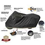 Dowco WeatherAll Plus Motorcycle Cover, Ratchet Attachment, Black, Waterproof, XXL