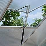 Hosaud Automatischer Fensteröffner Maximale Belastung 7-15 kg, Gestärktes Fensterheber für Gewächshaus Gartenhäuser Temperaturgesteuert Hubhöhe 45 cm Fensteröffner Gartengeräte