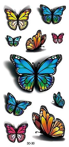 3D Schmetterlinge - Temporäres Fake Tattoo 3d-30