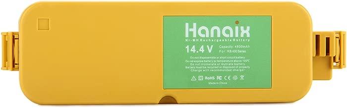 Hanaix 14.4V 4800mAh Ni-MH Battery Compatible with Irobot Roomba 11700 17373 400 405 410 415 416 418 4000 4100 4105 4110 4130 4150 4170 4188 4210 4220 4225 4230 4260 4296 4300 4310