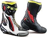 TCX - Botas de Moto RT-Race Pro Air Blanco/Rojo/Amarillo,...