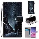 Miagon Flip PU Leder Schutzhülle für Samsung Galaxy S10e,Bunt Muster Hülle Brieftasche Case Cover...