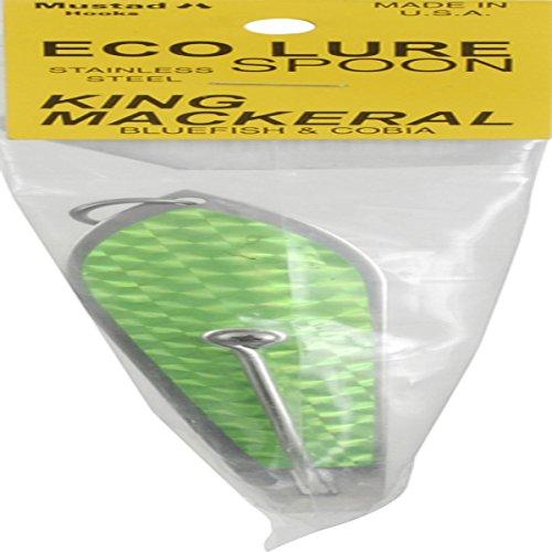 L.B. Huntington Eco Lure Spoon, Green/Silver Flash Scale, 3.5-Inch
