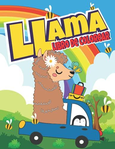 Llama libro de colorear: Para niños de 4 a 8 años (Spanish Edición) (The Second Schule libros para colorear)