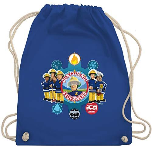 Shirtracer Feuerwehrmann Sam Tasche - Pontypandy Feuerwehr - Gruppe - Unisize - Royalblau - Geschenk - WM110 - Turnbeutel und Stoffbeutel aus Baumwolle