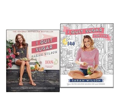 Sarah Wilson I Quit Sugar Cookbook Collection 2 Books Set, (I Quit...