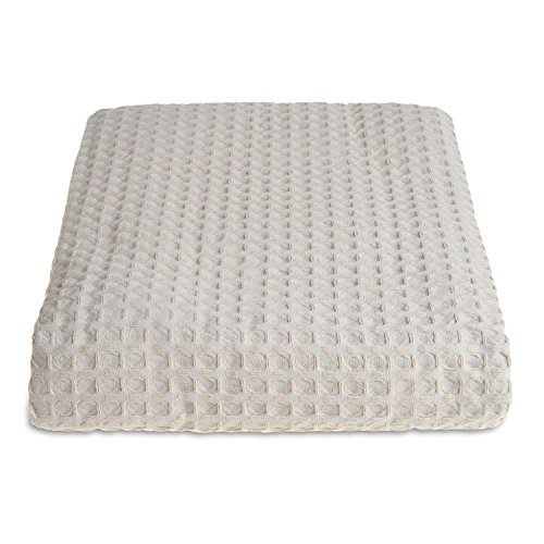 Allure Hotel-Kollektion Waffelpique Tagesdecke, Decke, Überwurf, 100 % Baumwolle, taupe, Small 175 x 225 cm