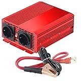 reVolt Inverter: Kfz-Spannungswandler 700 W, 2X 230 V AC, 5 V USB, Peak 1400 W (Sinus Spannungswandler)