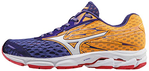 Mizuno Wave Catalyst 2 (w), Zapatillas de Running para Mujer, Morado (Liberty/White/Orange Pop), 36.5 EU