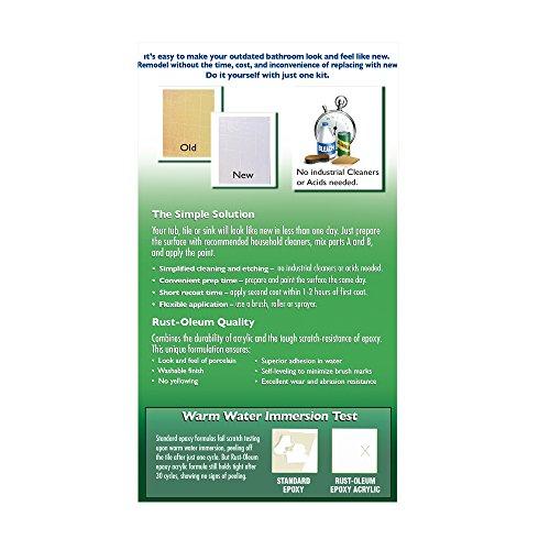 Rust-Oleum 7860519 Tub and Tile Refinishing 2-Part Kit, White, 32 oz