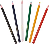 6 Colors Black maxgoods 12 Pieces Sewing Mark Pencil Tailor Chalk Free Cutting Chalk Sewing Fabric Pencil for Sewing Marking and Tracing