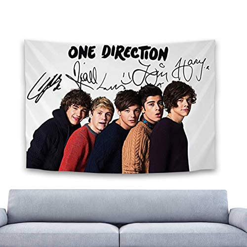 One-Direction Hanging Beautiful Colorful Tapestry Art for Living Room Dorm or Bedroom Wall Decor for Mural Decoration Perfect to Brighten up Any Room 60'x 40' Inch