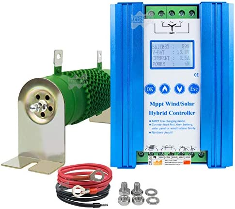 Marsrock Lithium Battery Wind Solar Hybrid Charge Controller with Wind Generator MPPT Boost product image