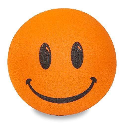Tenna Tops Happy Smiley Face Head Car Antenna Ball (Fits Fat Stubby Style Antenna) (Large 9mm Diameter Hole Size) (Sherbert Orange)
