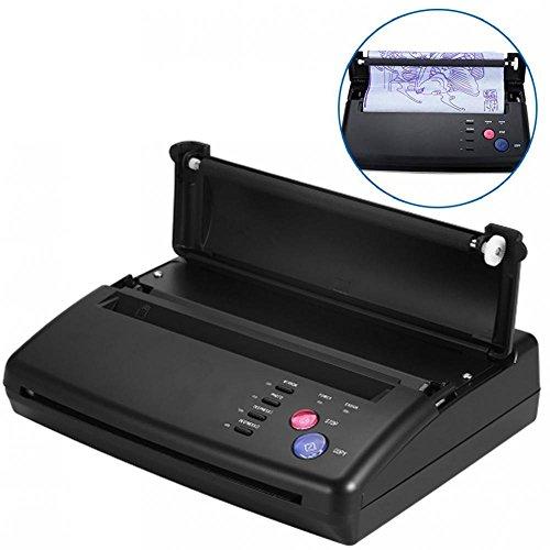 Tatuaggio Transfer, Stampante professionale Transfer Stencil Machine A5 A4 Tattoo Copier Stampante termica Kit di carta stampata(EU)