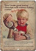 ハーシーのチョコレートシロップ乱雑なマーヴィンパーソナライズされたブリキのサインヴィンテージ面白い生き物鉄の絵金属板パーソナリティノベルティ