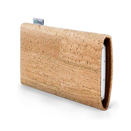 stilbag Handyhülle VIGO für HTC One A9 | Smartphone-Tasche Made in Germany | Kork Natur, Wollfilz braun