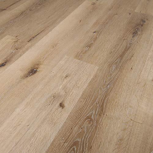 TRECOR® Vinylboden Klick RIGID 4.2 Massivdiele - 4,2 m stark mit 0,30 mm Nutzschicht - Sie kaufen 1 m² - WASSERFEST - phthalatfrei, keine schädlichen Weichmacher (Vinylboden | 1 qm, Eiche Rustique)