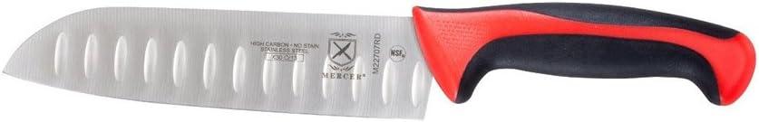 Santoku Knife 25% OFF Granton Edge Sales for sale 7 Red in