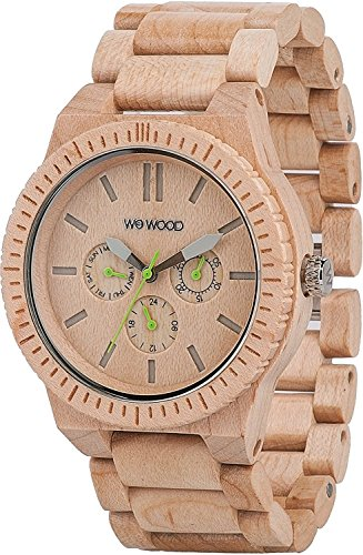 WEWOOD Uhr Holz Multifunktions-Uhr Kappa Beige 9818027 Herren [reguläre Importwaren]