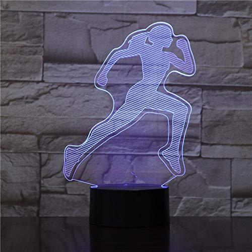 jiushixw 3D acryl nachtlampjes met afstandsbediening van kleur veranderende lampen vrouwen kinderen set kinderen designer zandloper ronde tafel bijzettafel salontafel