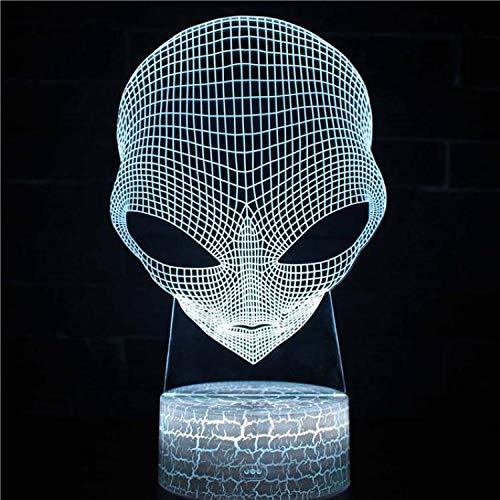 Kreatives 3D-Filmspiel Musik Sänger Nachtlicht LED Schöne Cartoon-Spielzeuge Kinder Geschenk Tischlampe Dekoration Alien UFO