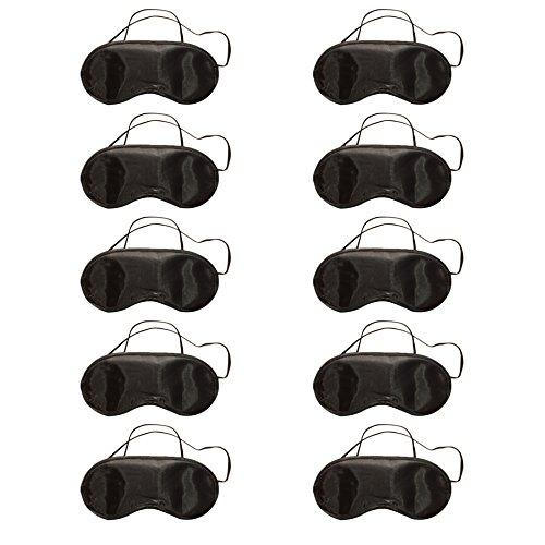 Haodou 10 Stücke Mittagspause Schutzbrillen Schlafmaske Atmungsaktiv Augenmaske Reisen Schlaf-Beihilfen Komfortablen Schlaf Brille mit Elastisches Gummiband (Nasenpflege haben)
