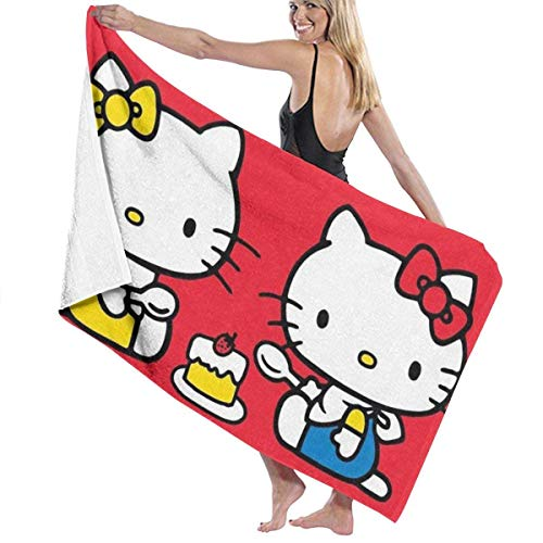 asdew987 Hello-Kitty - Toallas de baño multiusos de secado rápido, muy absorbentes, toallas de playa, toallas de piscina, 31 x 51 pulgadas, para mujeres y hombres