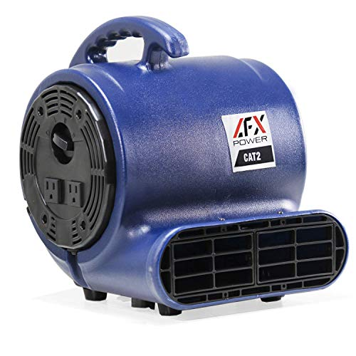 CAT 2 Air Mover Blower Carpet Dryer Floor Fan, for Restoration and Janitorial Use, to Clean and Dry Water Spills, Leaks or Floods (1/3 HP)