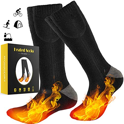 GREATSSLY Heated Socks, for Men & Women, More Than 10 Hours Continuous Heating, Rechargeable Battery Operated, Electric Heating Socks, Washable, Winter Hunting Motorcycle Ski, Arthritis Foot Warmer
