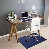 OfficeMarshal Alfombra de Color para Silla - Alfombrilla Protectora Suelo | Alfombra oficinas PP | Multiuso | Muchos Colores y tamaños (Azúl Oscuro, 75x120 cm)