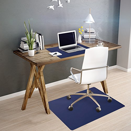 Tapis protège-sol casa pura® pour sols durs sans plastifiants/PVC | couleurs chaleureuses idéales pour la chambre d'enfant | 75x120cm - bleu foncé