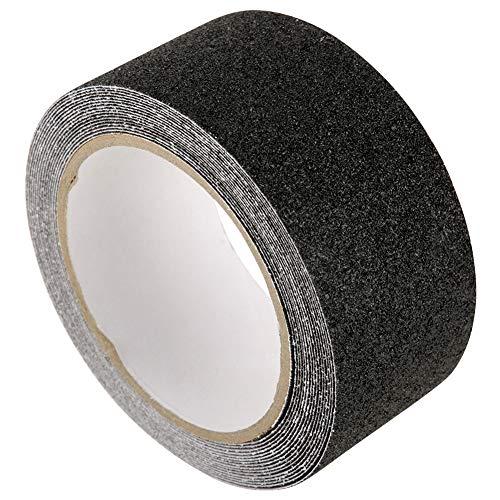 Cinta antideslizante, efecto antideslizante firme Lifegrip con PVC/cuarzo arena de silicio (negro)