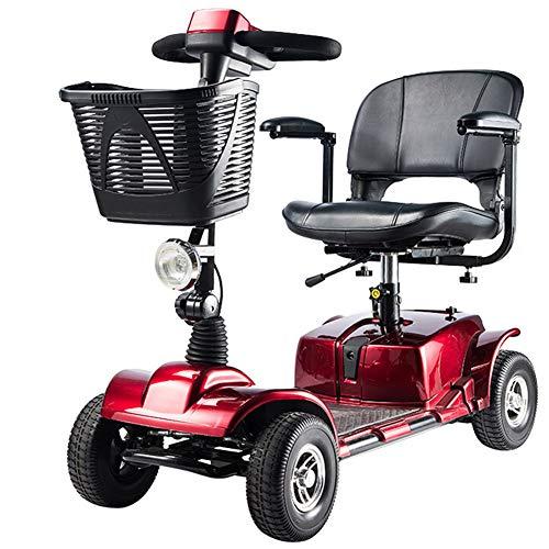APOAD Moto Eléctrica para Personas Mayores con 4 Ruedas, Plegable E-Scooter,Scooter Mobility...