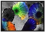 Pixxprint beeindruckender Quallen Schwarm Leinwandbild
