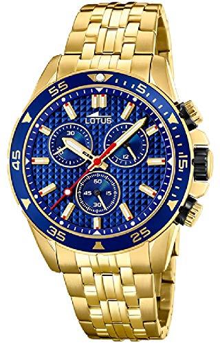 Lotus 8653/3 - Reloj Cronógrafo para Hombre, de Cuarzo con Correa en Acero Inoxidable