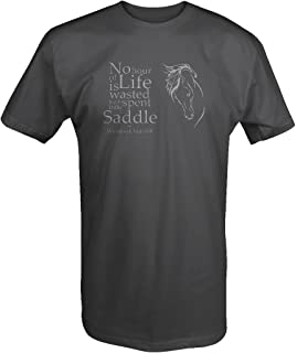 Stealth - Winston Churchill Quote Country Music Horse Saddle T shirt - Large