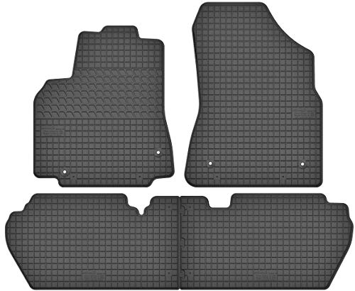 Motohobby Gummimatten Gummi Fußmatten Satz für Citroen Berlingo II/Peugeot Partner II (2008-2018) - Passgenau