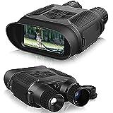 Digital Night Vision Binoculares para gafas de visión nocturna de infrarrojos de infrarrojos de infrarrojos para adultos / pantalla grande y rango de visualización de 1000ft, caza, espía, seguridad