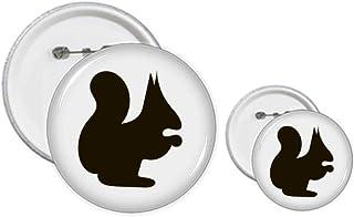 Écureuil noir - Épinglette - Kit de création de boutons et de badges