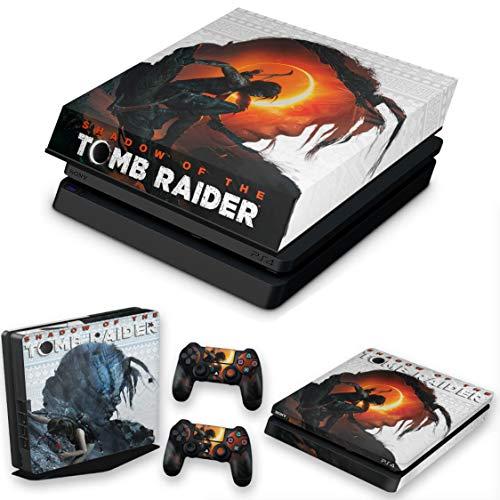 Capa Anti Poeira e Skin para PS4 Slim - Shadow Of The Tomb Raider