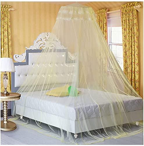 SDKFJ Tela mosquitera Mosquitera Cama para niña con Dosel Colcha Mosquiteras Mosquiteras de Malla de Nido de Abeja encriptadas Mosquiteras de Techo y Piso elevadas Mosquito Net
