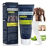 Crema depilatoria para hombres, zonas íntimas y mujeres, aloe vera, depilación eficaz sin dolor, para hombres, mujeres, antebrazos, pecho, espalda, piernas y brazos